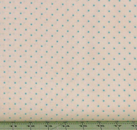 Small Teal Dots on Cream Background from the Home Essentials Collection by Robyn Pandolph for RJR Fabrics, 0016-52