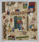Coffee Escapes Scene on Ivory Latte Swirl Background from Coffee Escapes Collection by Bonnie Krebs
