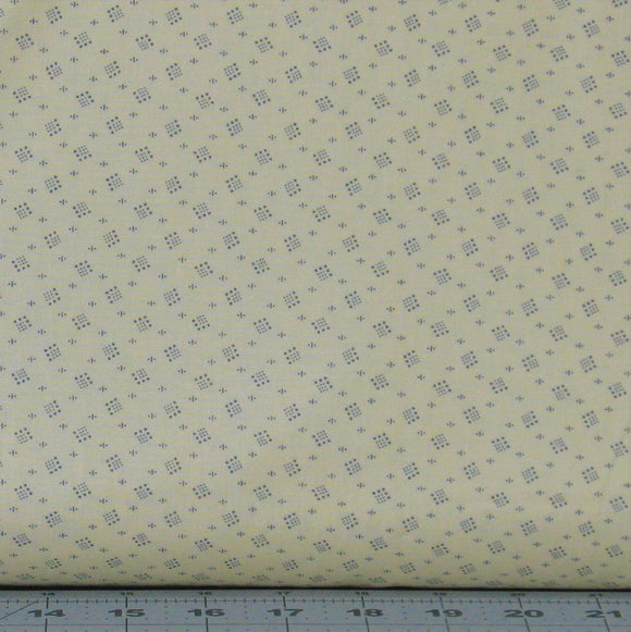 Dusty Blue Dotted Design on Cream from the Kindred Spirits 2 Collection by Whistler Studios for Windham Fabrics, 40212A-5