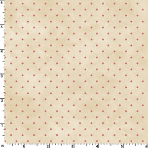 Small Rose Pink Dots on a Mottled Cream Background from the Welcome Home Collection by Maywood Studio, 609-ER