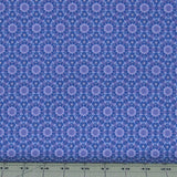 Purple Geometric Floral from the Marcella Collection by Clothworks