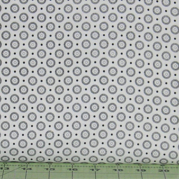 Black and White Circles and Dots Low Volume, Basically Low Collection, Red Rooster Fabrics