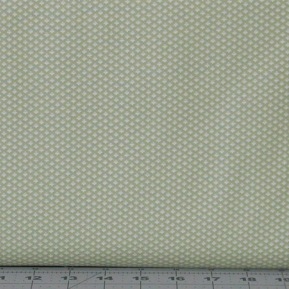 Tiny White Floral Design on Green from the Evelyn Collection by Whistler Studios for Windham Fabrics, 41988-2