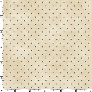 Small Aqua Dots on a Mottled Cream from the Welcome Home Collection by Maywood Studio, 609-EQ