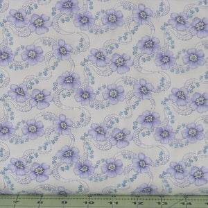 Primroses in Linen from the Twilight Garden Collection by Holly Hill Quilt Design and Mary Jane Carey