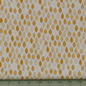 Yellow and Gold Tone on Tone Leaf Design from Helen's Meadow Collection