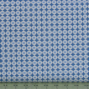 Light and Medium Blue Floral on White from the Do What You Love Collection by Alisse Courter for Camelot Fabrics, 2241506-3