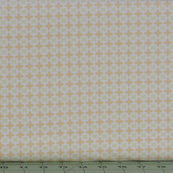 Orange and Yellow Floral on White from the Do What You Love Collection by Alisse Courter for Camelot Fabrics, 2241506-1