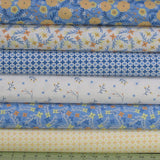 6 Floral Fabrics in Blue, White, Yellow and Orange from Do What You Love Collection