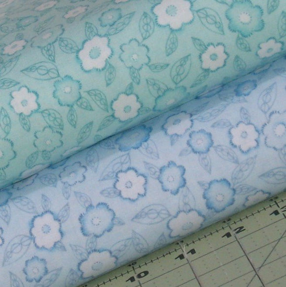 Blue and Aqua Fabric Blender Bundle from Frankturs and Florishes Collection by Red Rooster Fabrics