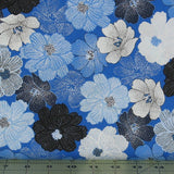 Packed Shimmer Flower in Blue from the Blue Brilliance Collection by Greta Lynn for Kanvas Studio