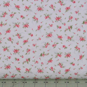 Small Pink & Green Floral on Gray from the Heather Collection by Jennifer Bosworth for Maywood Studio, 8396-K