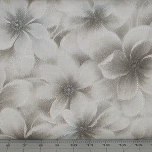 Gray Large Floral, Serenity 22 Collection, Daiwabo, Maywood Studio