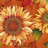Deep Orange, Red and Gold Sunflowers in Pumpkin from the Autumn Album Collection by Color Principle
