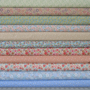 Flo's Little Flowers Fabric Bundle, Lewis & Irene Fabrics