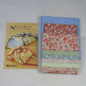 Quilted casserole tote kit, flo's little flowers collection, hot stuff pattern