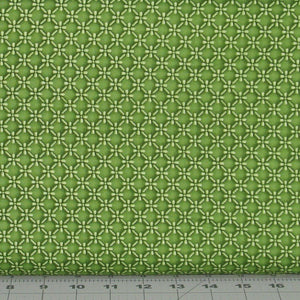 Dimensional Geo in Green from the Emma's Garden Collection by Debbie Beaves for Maywood Studio, 9176-G