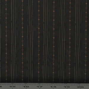 Black, Brown and Gold Stripe from the My Back Porch Collection by Janet Rae Nesbitt of One Sister Designs for Henry Glass Fabrics, 8922-38