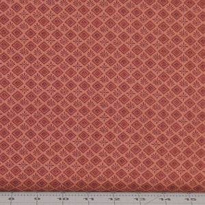 Rusty Red Tonal Floral in a Diamond Design from the Itty Bitty Collection by Janet Rae Nesbitt for Henry Glass Fabrics, 2148-88