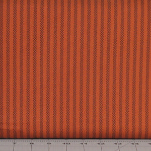 Dark Rusty Red and Burnt Orange Check Stripe from the Itty Bitty Collection by Janet Rae Nesbitt for Henry Glass Fabrics, 2149-35
