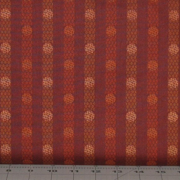 Rusty Red Tone on Tone Textured Stripe from the Itty Bitty Collection by Janet Rae Nesbitt of One Sister Designs for Henry Glass Fabrics, 2150-88