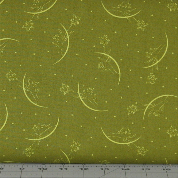 Olive Green Tonal Floral from the Japanese Garden Collection by Maywood Studios, 8088-G
