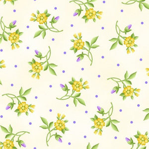 Little Flowers in Cream from Emma's Garden Collection by Debbie Beaves for Maywood Studio, 9178-E