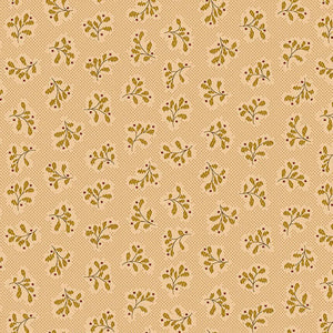 Leaf Clusters in Cream from the Wit and Wisdom Collection by Kim Diehl for Henry Glass Fabrics, 1429-44