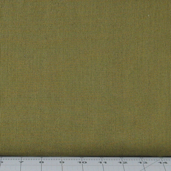 Olive Green Tonal Tiny Stripe from the Itty Bitty Collection by Janet Rae Nesbitt for Henry Glass Fabrics, 2154-66