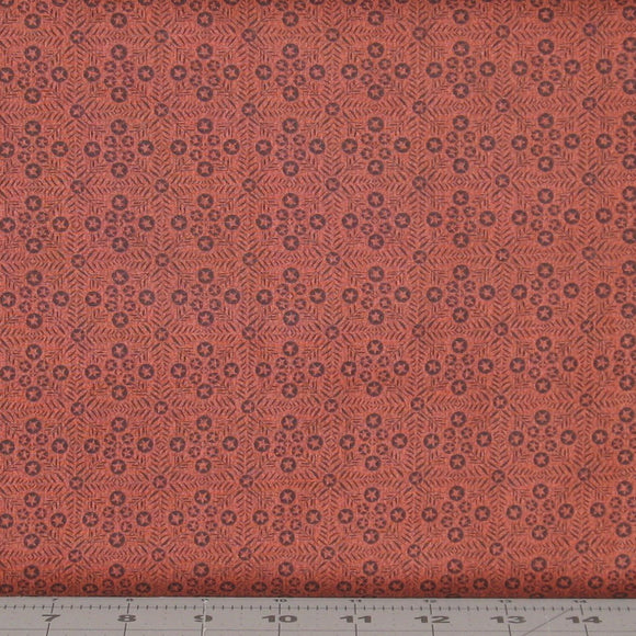Rusty Red Tonal of Tiny Stars in a Grid Pattern from the Itty Bitty Collection by Janet Rae Nesbitt for Henry Glass Fabrics, 2153-88
