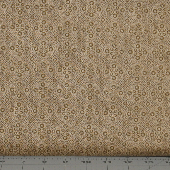 Brown Tonal Tiny Stars in a Grid Pattern from the Itty Bitty Collection by Janet Rae Nesbitt for Henry Glass Fabrics, 2153-39