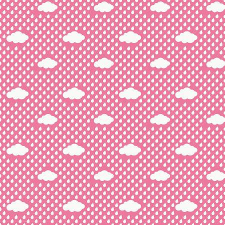 Bloom Rain Clouds Pink from Bloom Where You're Planted Collection by Lori Whitlock for Riley Blake Designs, C6853-Pink