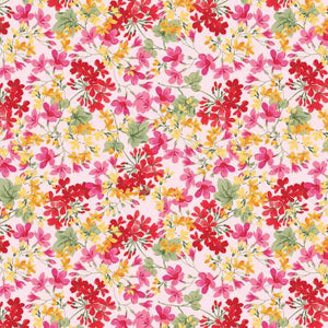 Farmhouse Floral in Pink by Nancy Zieman for Penny Rose Fabrics