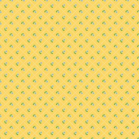 Jardin Grid in Yellow, Mon Beau Jardin Collection, Nadra Ridgeway, Penny Rose Fabrics