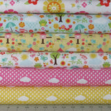 Six Fabrics from the Bloom Where You're Planted Collection by Lori Whitlock for Riley Blake