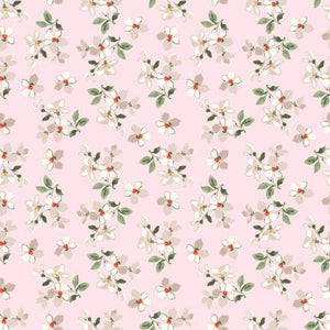 Farmhouse Toss in Pink, Farmhouse Floral Collection by Nancy Zieman for Penny Rose Fabrics