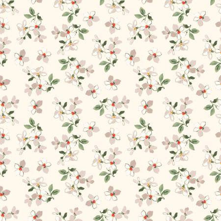 Farmhouse Toss in Cream, Farmhouse Floral Collection, Nancy Ziemann, Penny Rose Fabrics