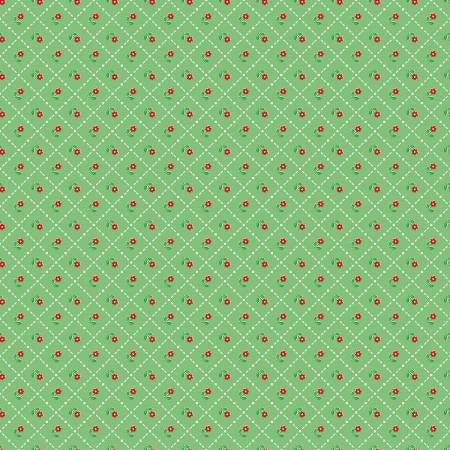 Jardin Grid in Green, Mon Beau Jardin Collection, Nadra Ridgeway, Penny Rose Fabrics