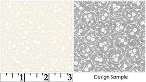 Ivory Tone on Tone Floral Blender Fabric