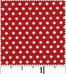White Polka Dot on Red from the Pin Dot Collection by RJR Fabrics, 4928-3