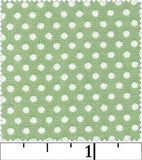 White Polka Dot on Mint Green, Pin Dot by RJR Fabrics