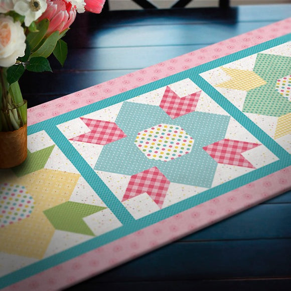 May Blossoms Table Runner Quilt Kit from Riley Blake Fabrics