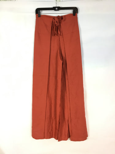 Wrap Pants in Burnt Sienna