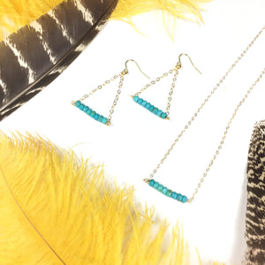 Elu Bar Necklace/ Earrings