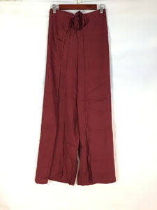 Wrap Pants in Burgandy