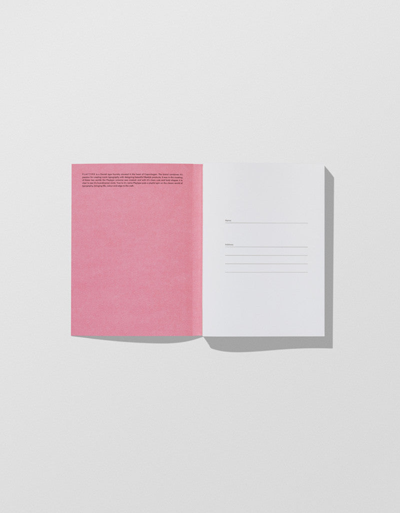 Grey / Pink — Notebook