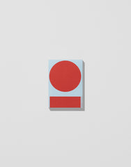 Light Blue/Red  — Postcard Block