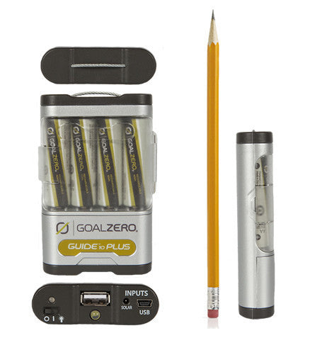 Goal Zero Guide 10 Plus Battery Pack compared to pencil