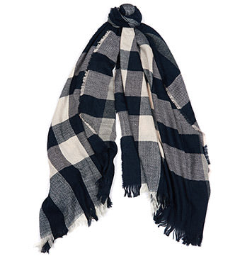 Barbour Thornhill Navy Check Wrap