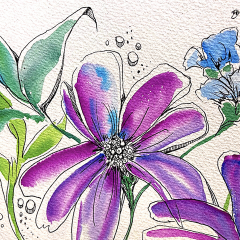 Watercolor Whimsy I- June 17